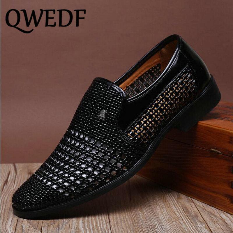 Sandalias del verano transpirable sandalias de los zapatos para los zapatos de corte Hombres de mediana edad sin cuero ate para los hombres K4-45