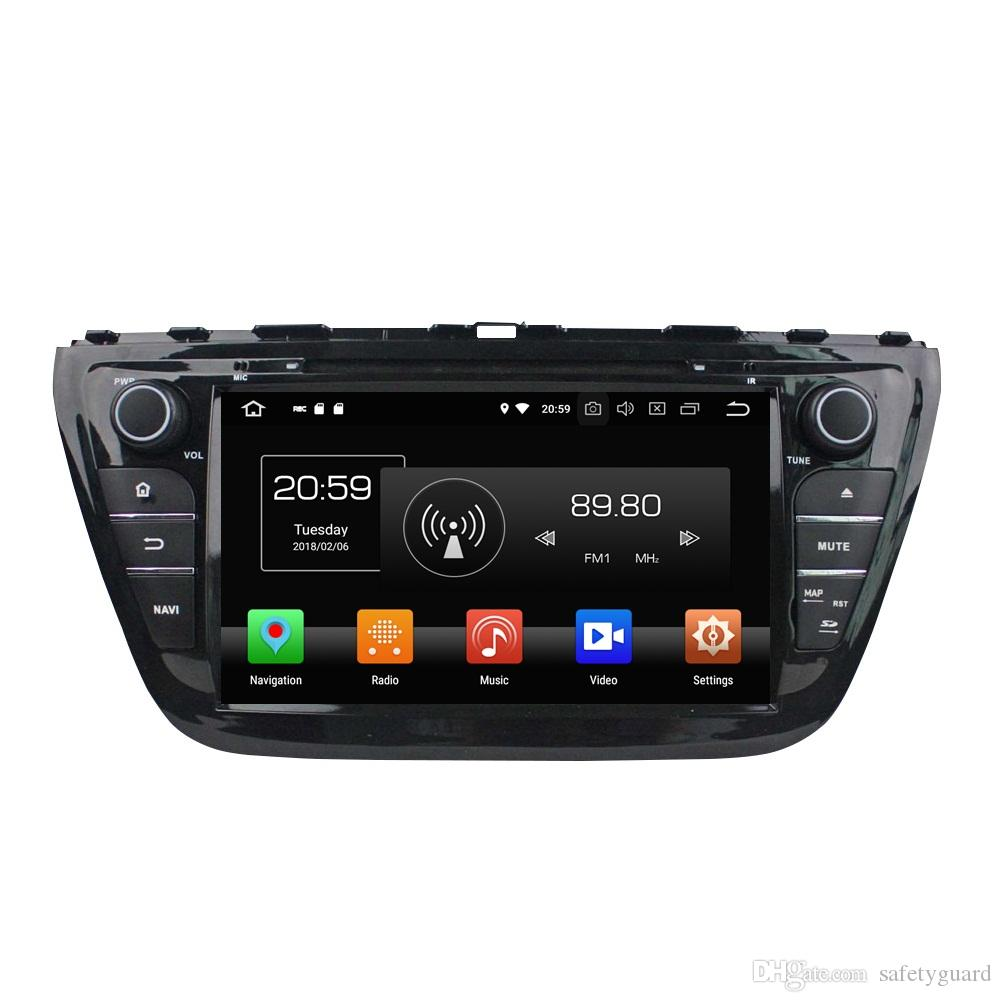 "IPS Octa Core 2 din 8"" Android 8.0 Car DVD Radio GPS for Suzuki SX4 /S Cross 2014 With 4GB RAM 32GB ROM Bluetooth WIFI Mirror-link"
