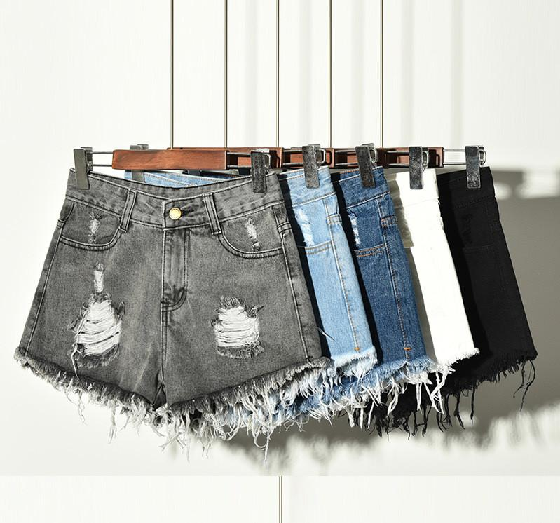 Отверстие Высокая талия женщин шорты лето Сыпучие Плюс Размер Дамы дизайнерские брюки Модные Горячие Продаем Женские джинсы