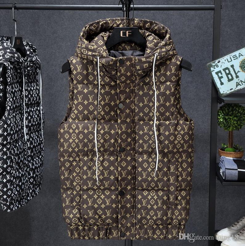 المشاهير على شبكة الإنترنت ملابس خارجية نسائية مصممة مع مطبوعات الأزياء الفاخرة لجعل خمر سترات أسفل القطن ضئيلة، دافئة وسميكة