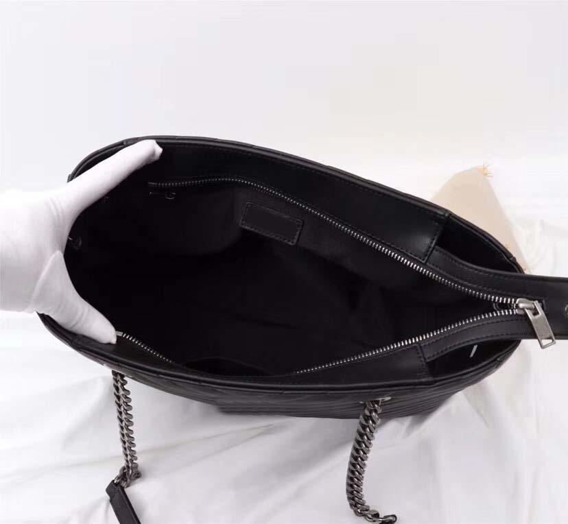 2019 donne Borse nuovo modo di buona qualità di forma di v catena Borsa a tracolla Zipper Borse del progettista della catena della spalla Messenger Bag Shopping Tote