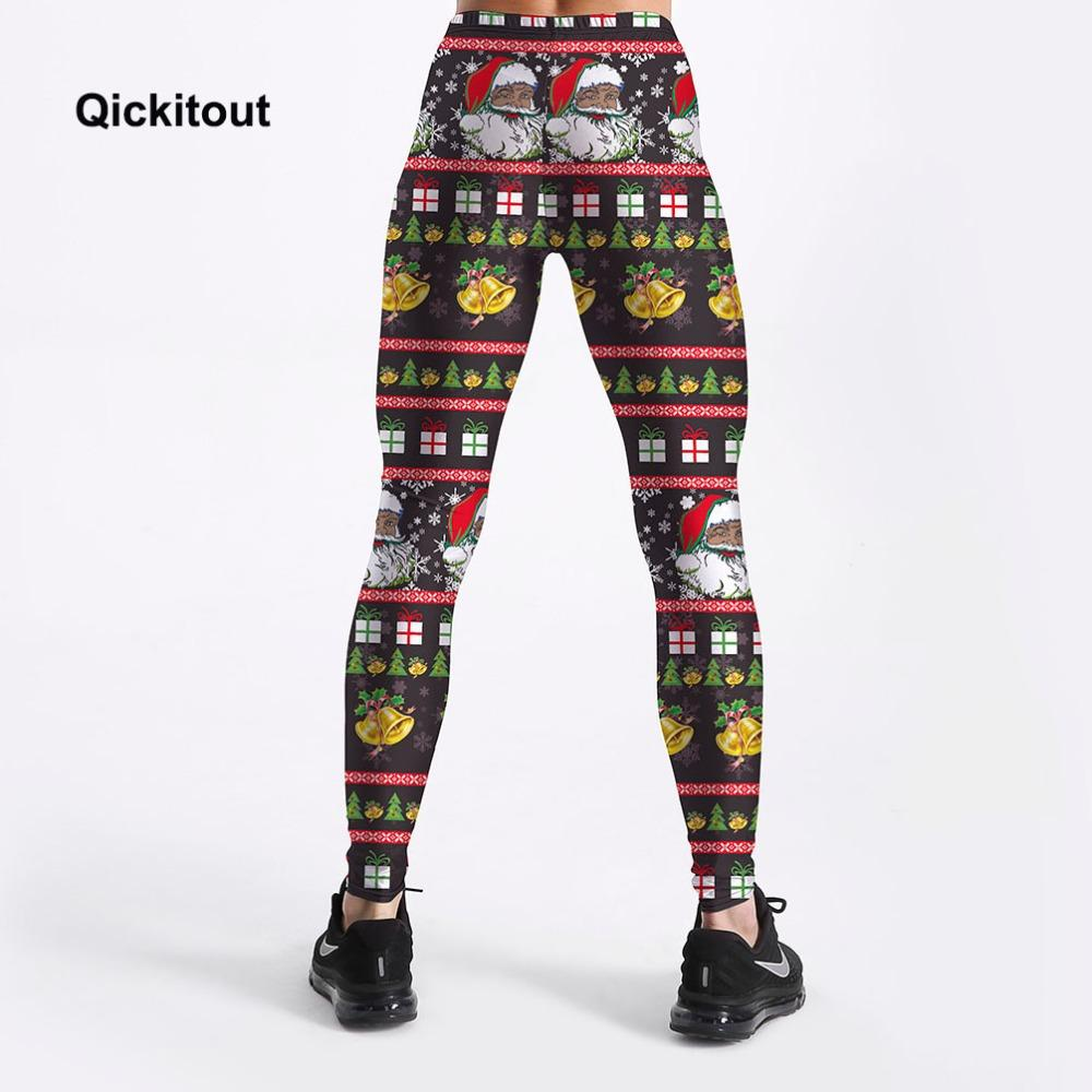 03497e85c2a9f5 2019 Wholesale Leggings SEXY Women'S Legging Christmas Bells Santa Claus  Festival Styles 3Digital Printing Trousers Leggings From Qyzs001, $7.08 |  DHgate.