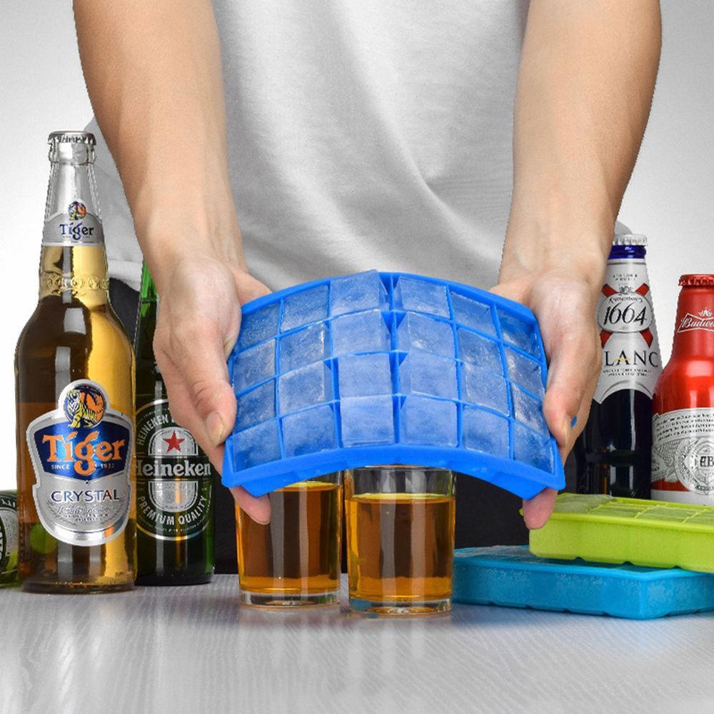 24 Izgara DIY Büyük Buz Küp Kalıp Kare Shape Silikon Buz Tepsi Kolay Yayın Maker Yaratıcı Ev Bar Mutfak araçları 50 adet