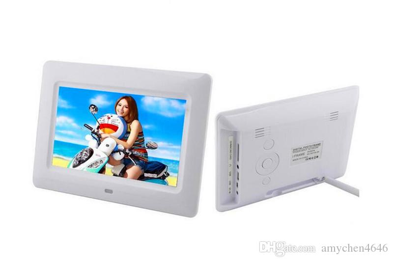 7 بوصة TFT LCD إطار الصورة الرقمية ألبوم MP4 لاعب الفيلم المنبه 800 * 480 JPEG / JPG / BMP MMC / MS / SD MPEG AVI Xvid
