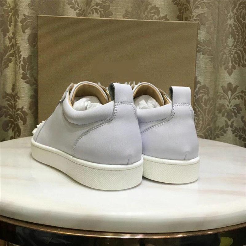 Le novità chiodi in pelle di design di lusso di cristallo scintillante scarpe basse scarpe casual uomini e le donne le scarpe di grandi dimensioni EUR35-46 563unisex