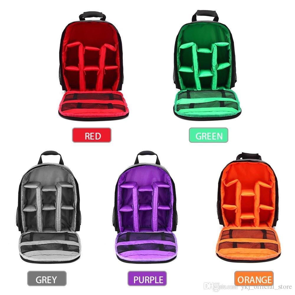 DSLR caméra sac à bandoulière en nylon sac à bandoulière imperméable caméra coiffe sac pochette sac à dos de photographie en plein air