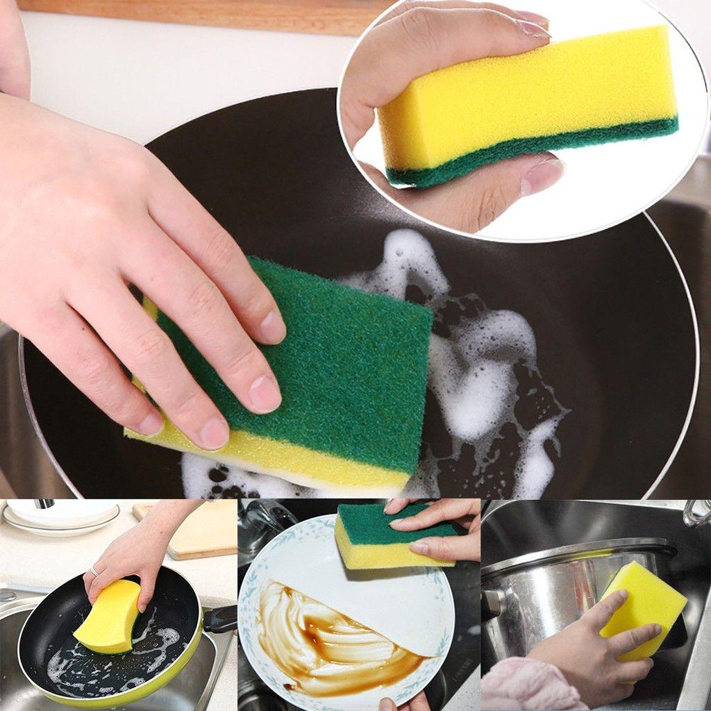 عالية الكثافة الإسفنج مطبخ تنظيف المناشف أدوات غسل مسح الخرق الإسفنج تجوب الوسادة ستوكات طبق تنظيف القماش ماجيك تنظيف المقدمين