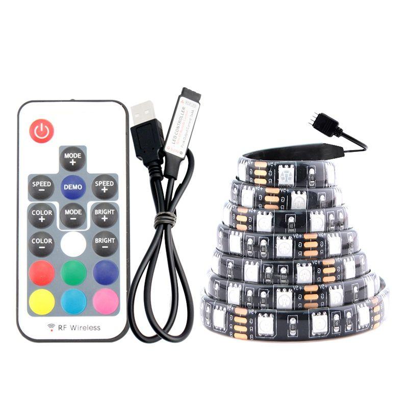 UMLIGHT1688 USB-LED-Streifen RGB-wechselbare LED-Fernseher Hintergrundbeleuchtung 1m 2m 3m 5m DIY 5V flexibles Licht RGB-LED-Streifen 5050.