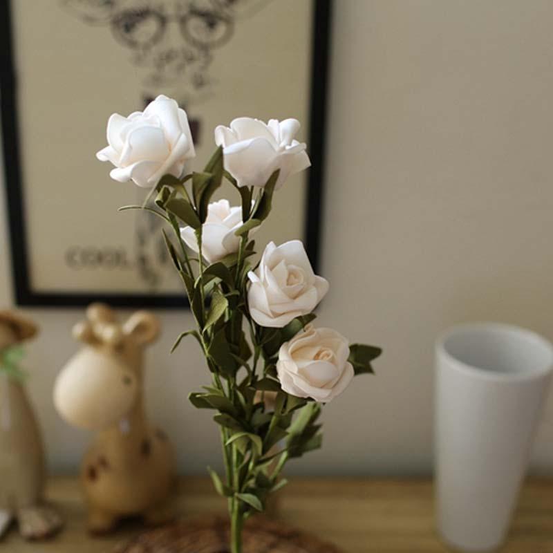46 centímetros PE Foam Rose Flores Long Stem Falso Festa Rosas Francês Scrapbooking DIY noiva Bouquet Artificial Decoração do casamento Flores