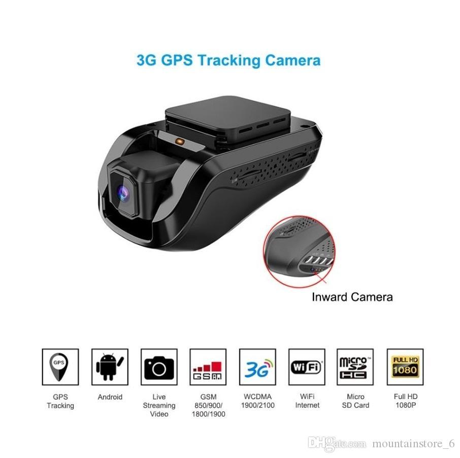 3G 1080P Smart GPS Tracking Dash Kamera Auto Dvr Live Video Recorder Überwachung durch PC Kostenlose Handy-APP (Einzelhandel)