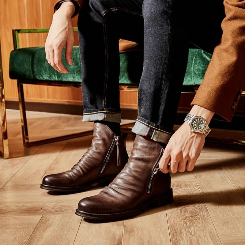 High Top Ankle Boots For Men Sapato