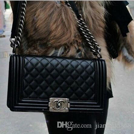 les femmes sacs à main designer de luxe en cuir véritable peau de vache sac à bandoulière sacs à main épaule messager sacoche porte-monnaie sac Chaine d43