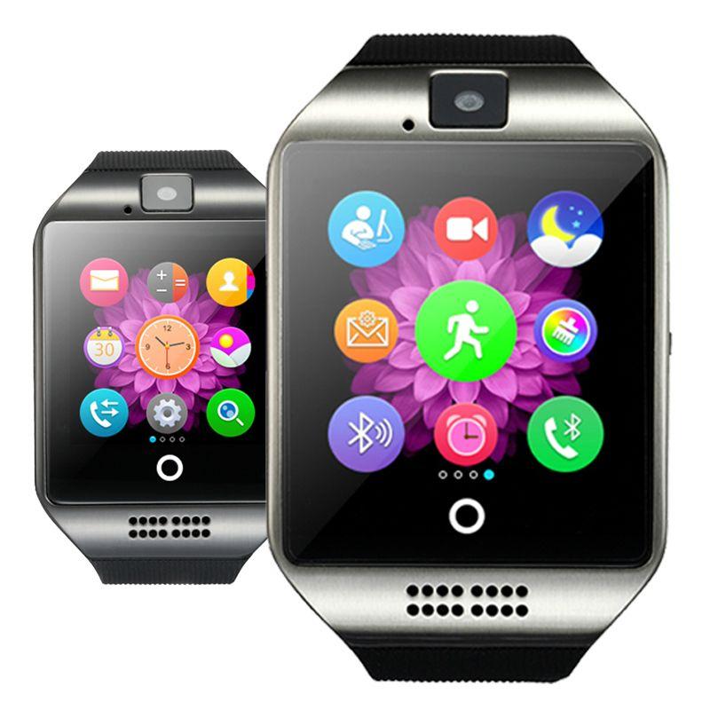 Bluetooth Smart Watch Q18 mit Kamera Facebook WhatsApp Twitter Sync SMS Smartwatch Unterstützung SIM TF Karte für IOS Android