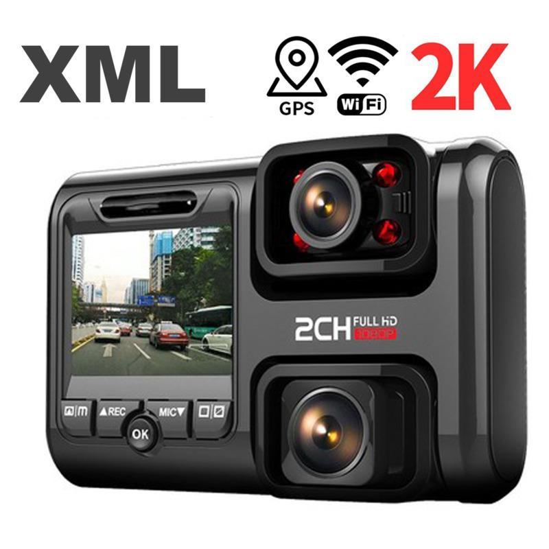 4K 2160P WIFI GPS Dash Cam double objectif DVR Night Vision voiture caméra cachée enregistrement en boucle Dvr Sony Sensor Recorder Caméscope