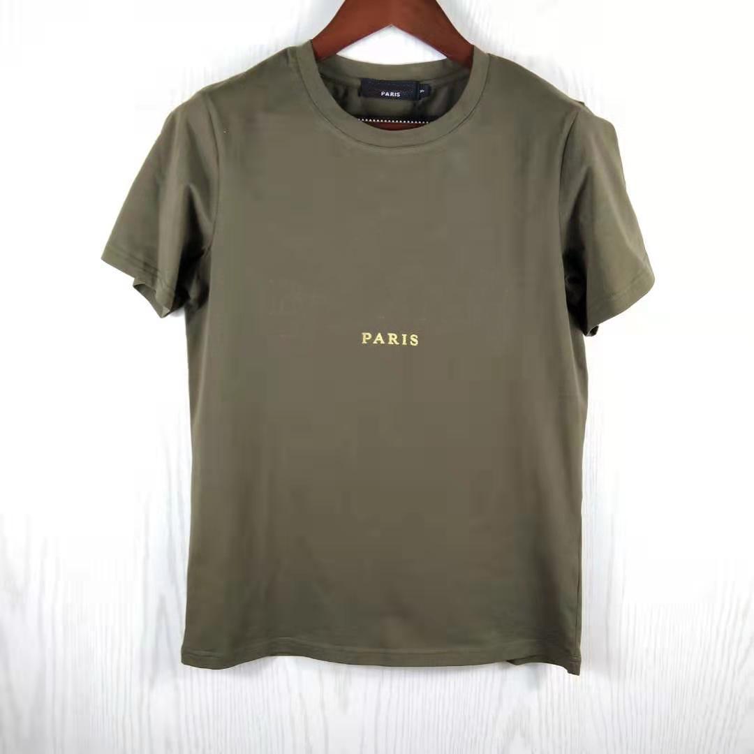Gold beschriftet Art-Frauen-T-Shirt kurze Ärmel Mann Frauen festes T-Shirt Tops Tees Slim Fit T-Shirt Männer sportliche Sommermode Kleidung