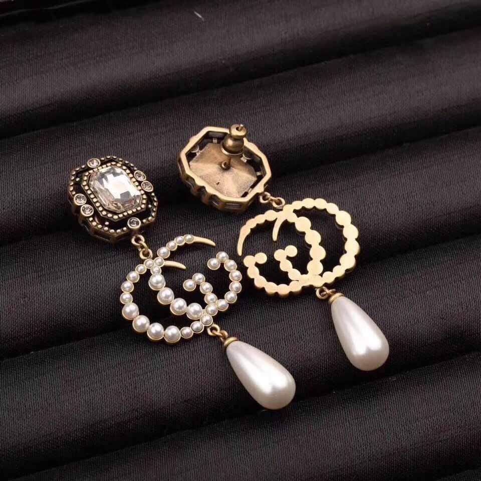 Brinco Pendente para as mulheres de casamento presente da jóia com cristais e pérolas para as mulheres e mãe de jóias jogo PS4550