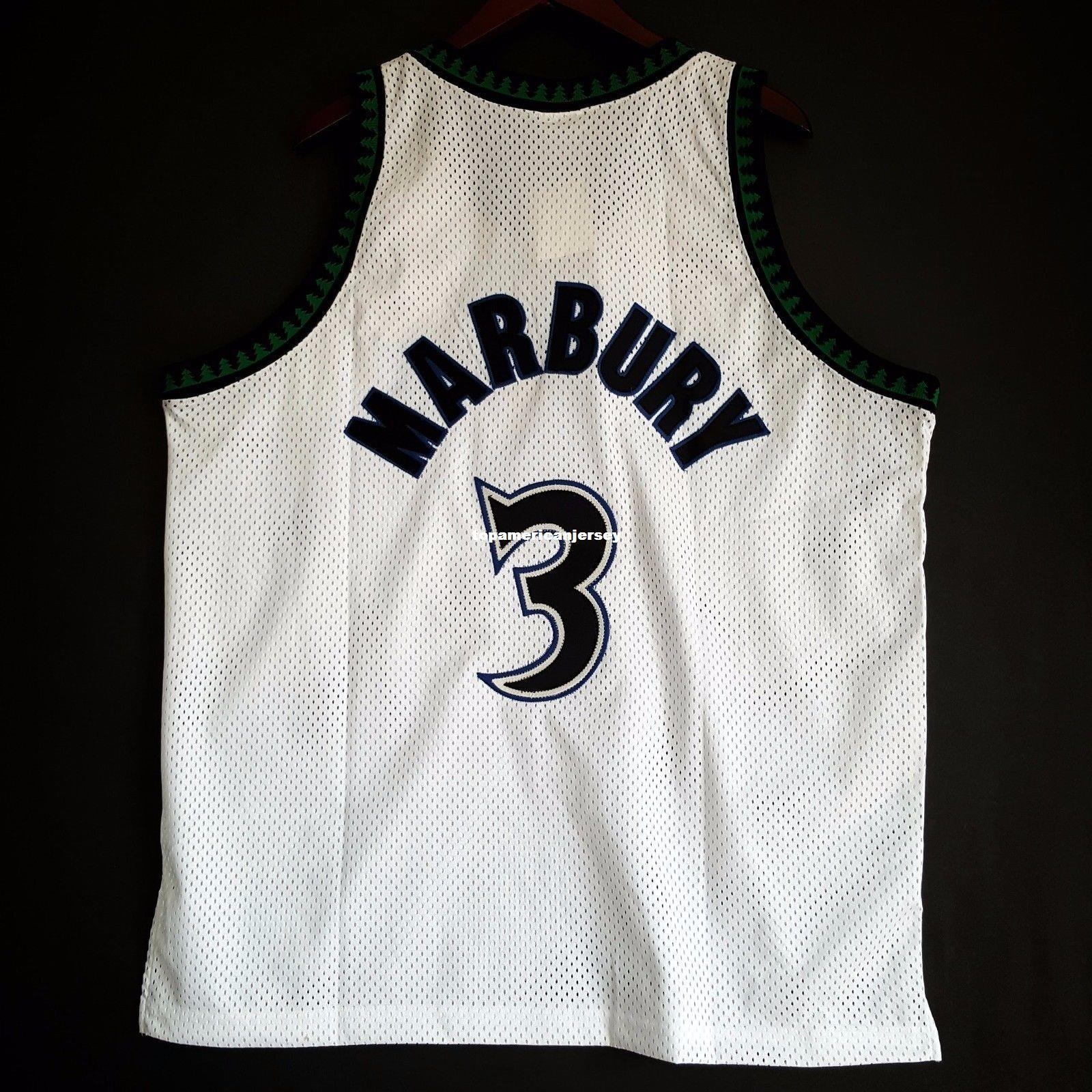 100% genäht Stephon Marbury # 3 Starter genäht Jersey weiß Herren Weste Größe XS-6XL genäht Basketball Trikots Ncaa