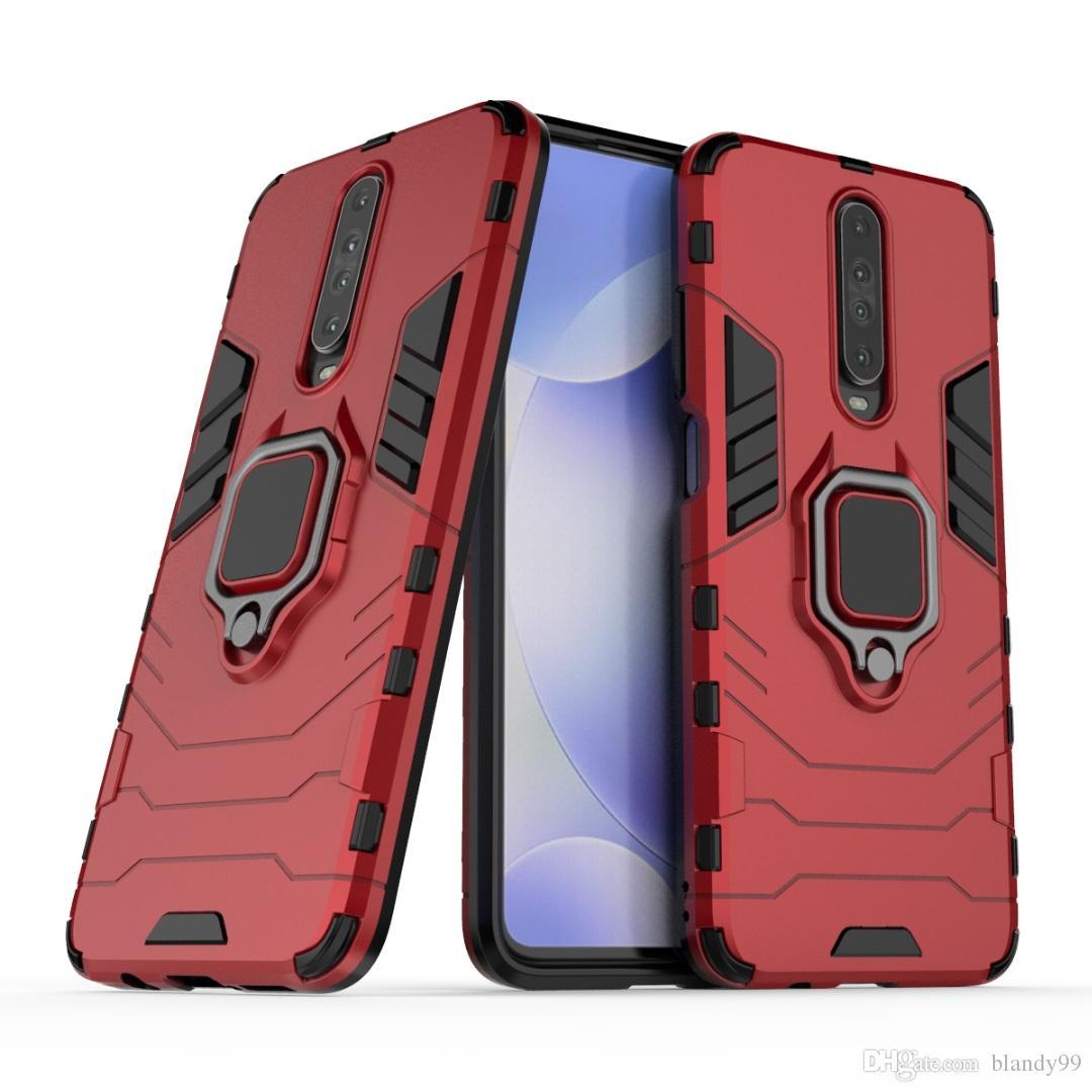 étuis pour téléphones anneau hybride Armure antichoc de cas pour Xiaomi NOTE 10 9 CC9 CC9E redmi 8T 8 8A 7A pro A3 Lite