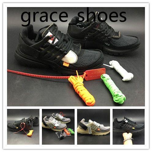 OFF White X Nike Air Presto OW Presto ultra-corrida sapatos Mulheres Running Shoes Triplo Preto Vermelho Branco QS mens formadores Prestos Jogging sapatos de grife Casual TZ173