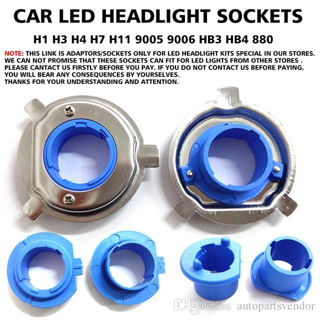 2x Araba LED Ampul Taban Klip Tutucu Adaptörü Tutucu Prizler H1 H3 H4 H7 H11 9005 9006 HB3 HB4 880 Far Mağazamızda Özel