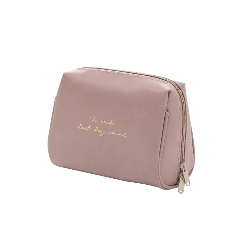 Highend Clutch Travel Cosmetic Case Étanche simple maquillage en nylon imperméable Sacs double fermeture à glissière
