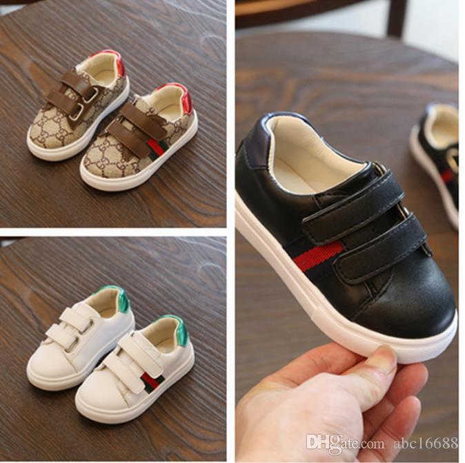 Tamanho EUA 5,5-8,5 Crianças Casual Sneakers Moda Striped amortecimento Meninos Meninas Calçados HookLoop duráveis Shoes Construção crianças 88