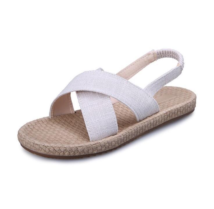 Tasarımcı-s Tie Sandalet Bayan Casual Yaz Düz Platformu İçin Kız Plaj Sandal AB Boyutu: 36-40 ADF-871