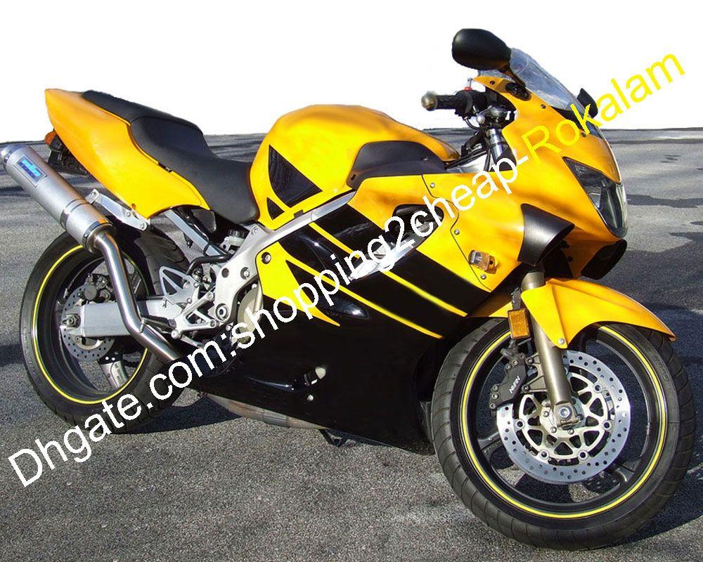 F4 ABS Plastic Fairing Fitting For Honda CBR600 CBR 600 600F Popular Motorbike Yellow Black Cowling Set 1999 2000 99 00(Injection molding)