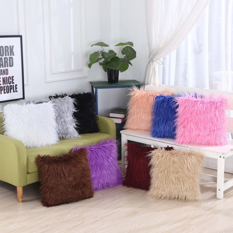 Solid Color Super Soft Plush Sofa