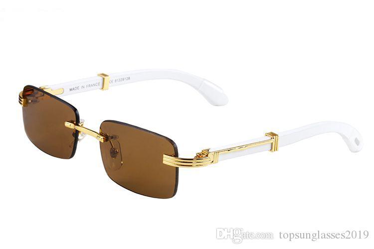 Occhiali da donna, occhiali da sole Corno 2021 e bufalo in moda UOMS CO RIMLESS WHITE BIGLIORE BESS-VENDENTE GRATUITA FREE SUNGLASS SUNGLASS RQFAB