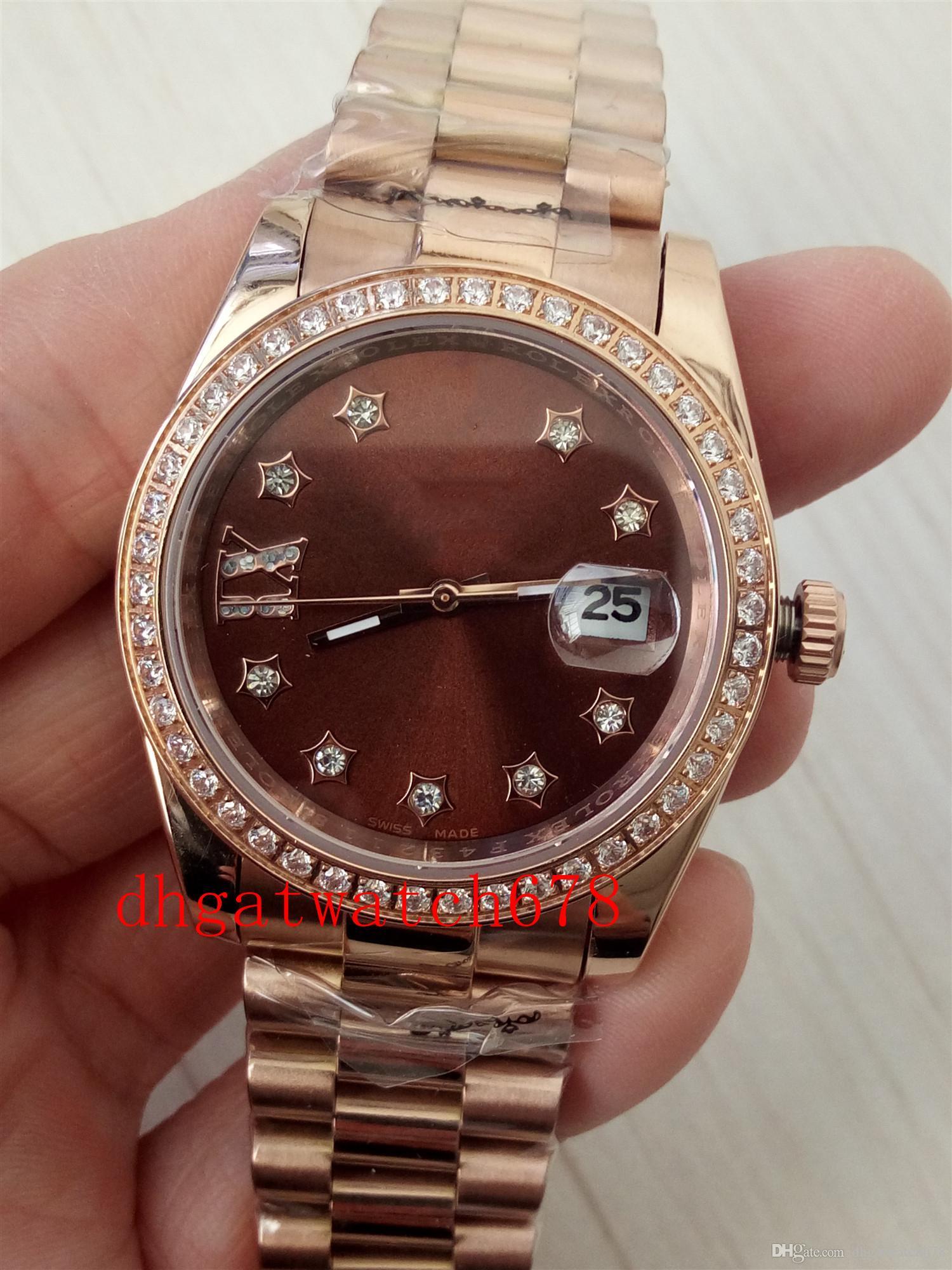 Luxus-Armbanduhr-Mann-Dame-Uhr-fach mechanische Armband 36 mm Rose Gold 279135 Datum Staub Jubliäum automatische Uhr