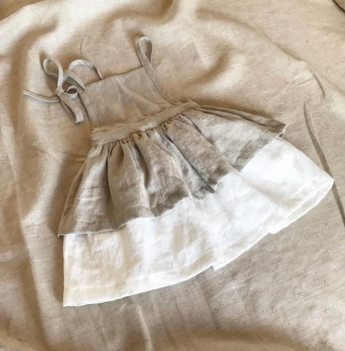 Vestido europeo de verano para niños pequeños de verano Vestido de lino Ropa vintage Q190518