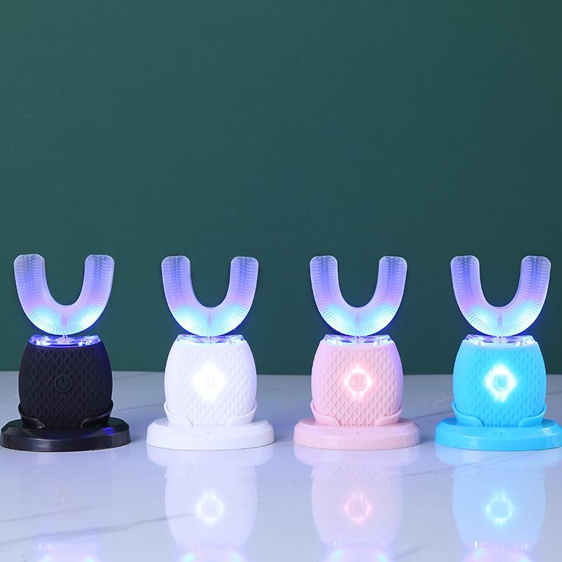 360 градусов Интеллектуальная автоматическая Соник электрическая зубная щетка U Тип 4 Режимы Зубная щетка USB зарядный Отбеливание Blue Light