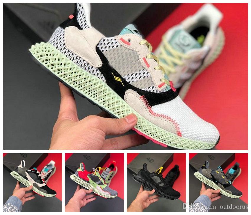 ADIDAS 2019 zx4000 Futurecraft 4D ZX 4000 Futurecraft 4D alphaedge y3 erkekler koşu ayakkabı siyah beyaz sneakers boyutu 36-45