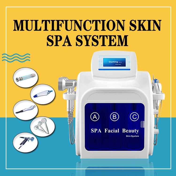 2019 multifunzione Hydra dermoabrasione RF bio-lifting Spa macchina facciale Aqua cleaningl viso acqua peeling macchina dermoabrasione