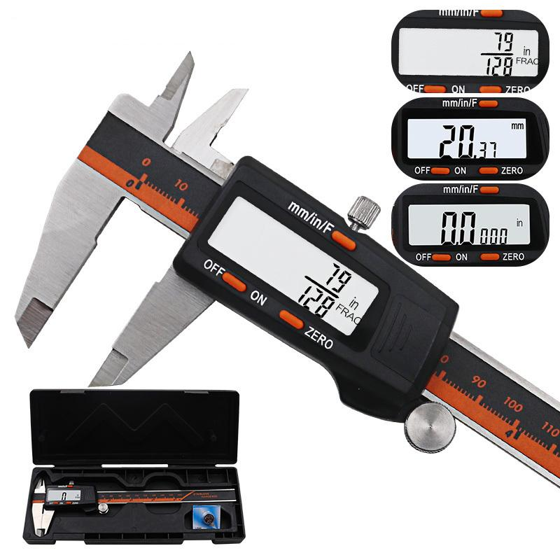 150mm LCD Digital Stainless Steel Caliper Electronic Vernier Caliper Micrometer Depth Measuring Tool Gauge T200602