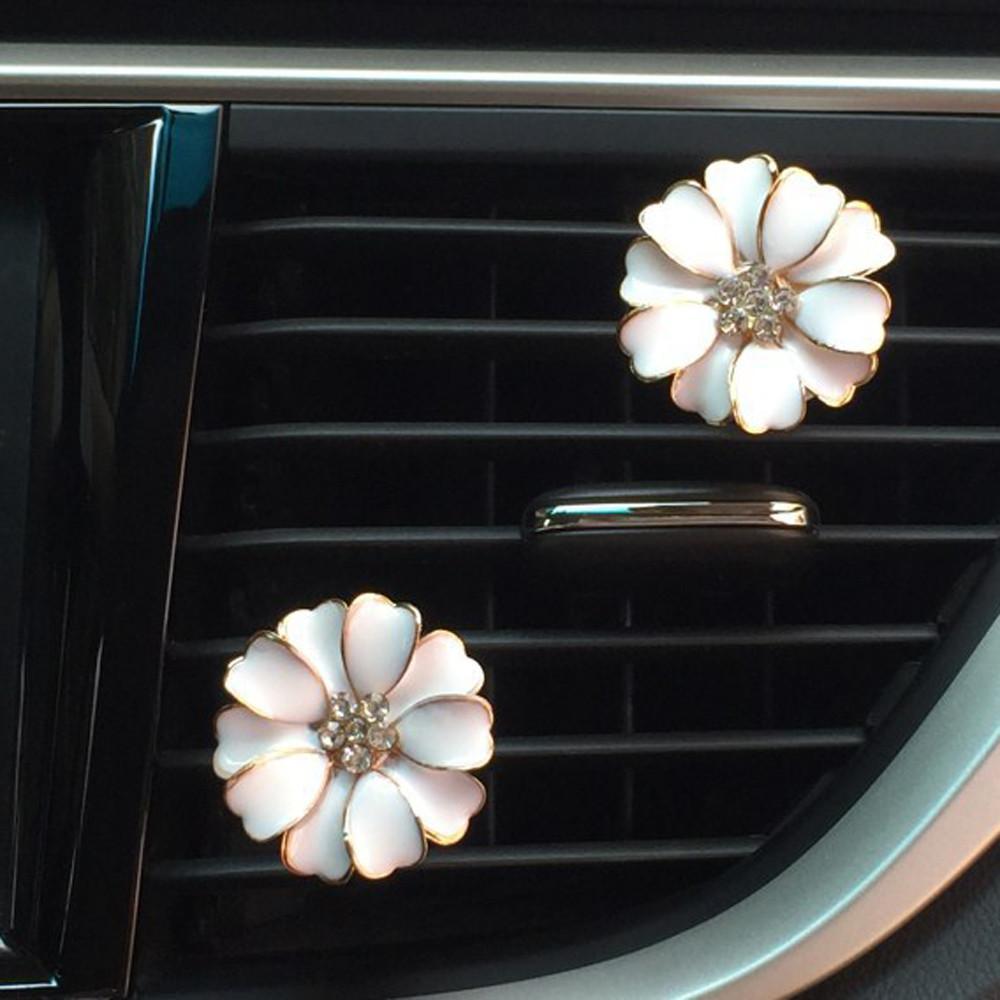 Car Multiflora Flower Air Outlet Fragrant Perfume Clip Air Freshener Diffuser High qualty fragrance material 7.11