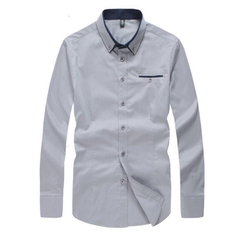 Qualität gestreiftes Kleid Shirt Baumwolle Marke Kleidung Slim Fit Männer formale lange Hülsen-beiläufige Hemden der Männer Social Camisa Masculina