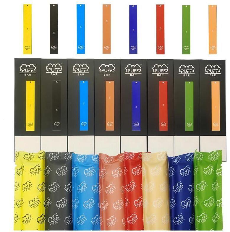 Puff Bar à usage unique Vape Pen dispositif pods Kits de démarrage 280mAh battey de cartouches vides Vaporizer Nouveau Noir Conditionnement Memory Stick E-Cigarettes