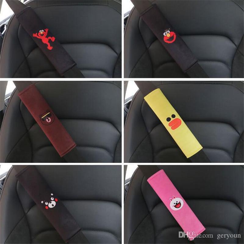 Suministros de automóviles del cinturón de seguridad universal de hombro del cojín del asiento del oso / Kumamoto ELMO / de dibujos animados del interior del coche protección de la correa Ajuste la almohadilla de todos los coches