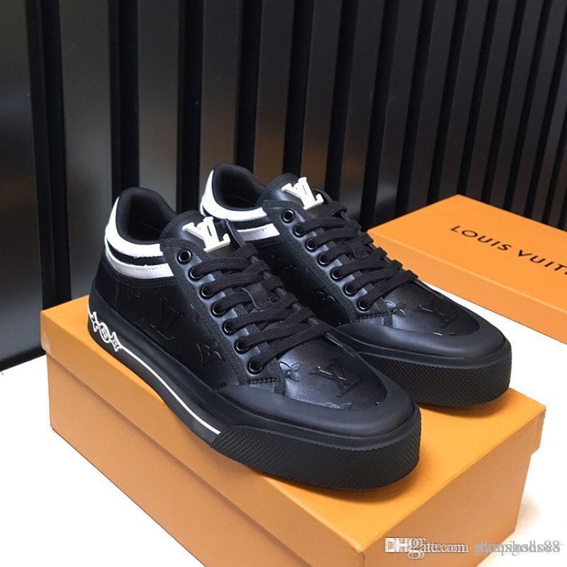 chaussures chaussures formateur formation des hommes de mode Designer de luxe en cuir noir de la mode super star chaussures d'entraîneur de sport casual taille 38-45