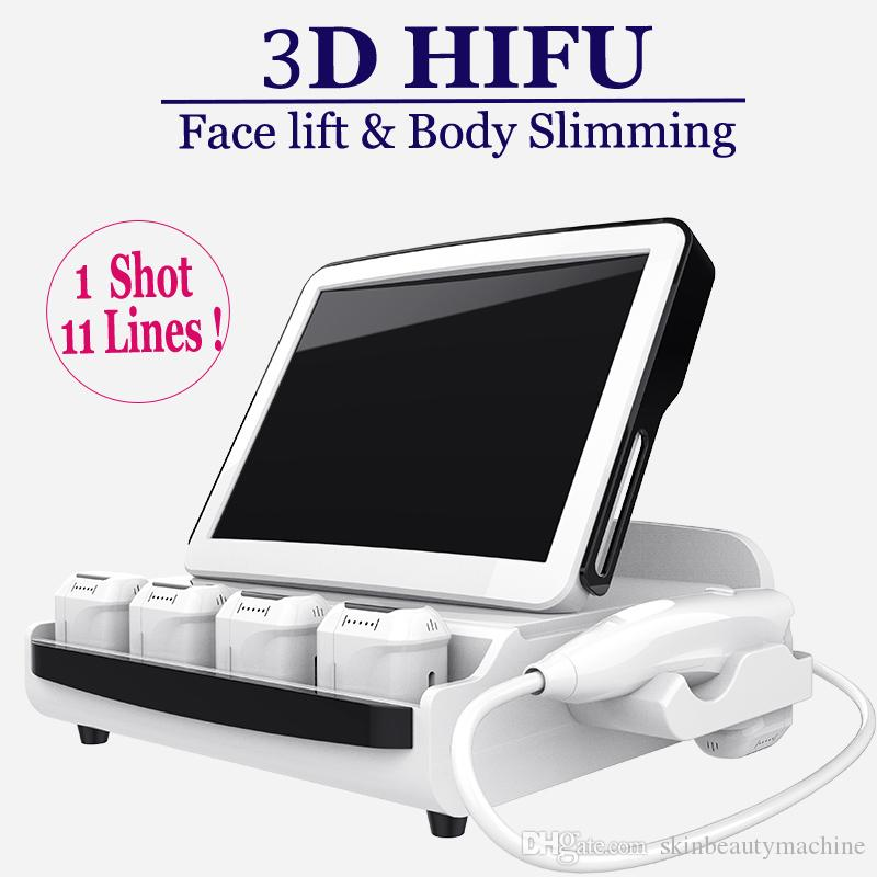 8 Cartridges 3D HIFU Face Lift machine non surgical HIFU Skin Resurfacing facial neck Lifting Anti Aging equipment Wrinkle Remover