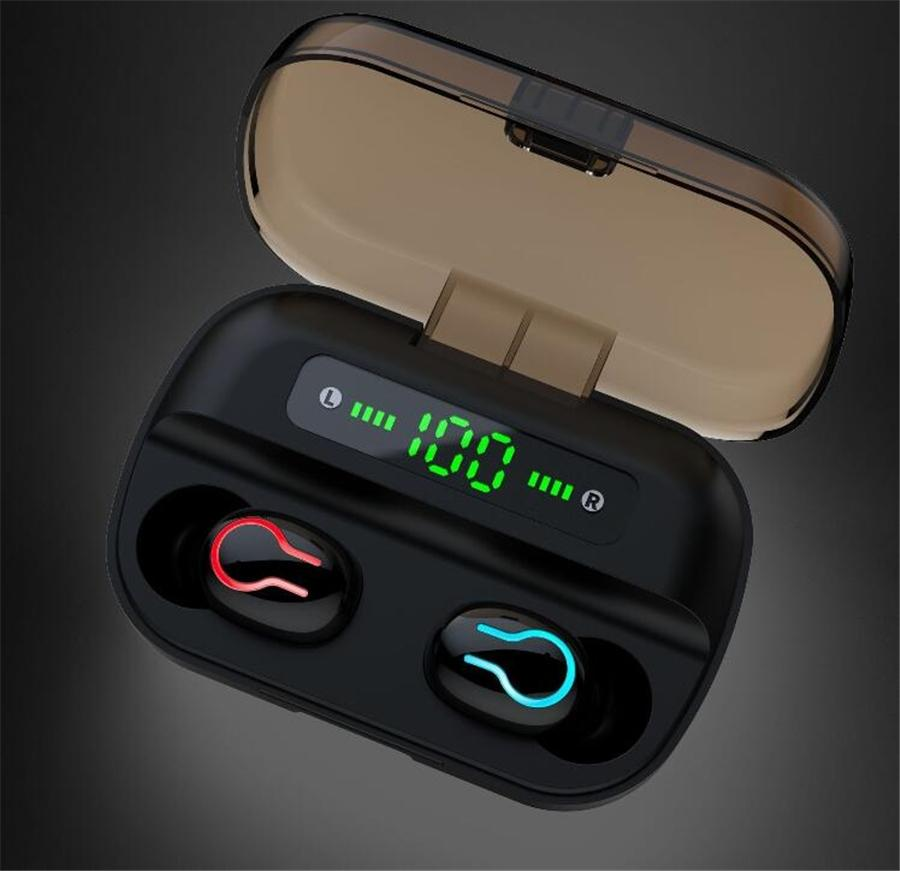 Newest Best selling S11 TWS Earbuds 3500mAh Power Bank Headphone LED Display Bluetooth 5.0 Earphone Wireless HIFI Stereo Gaming Headse #OU536