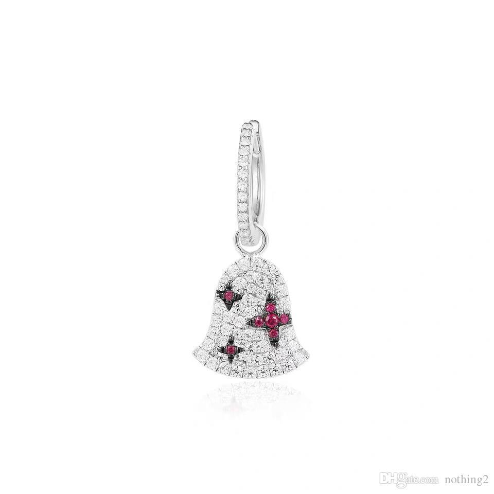 مجوهرات أقراط DIAMON 925 بيل التصميم الفريد وأقراط واحدة نساء بيع المجوهرات