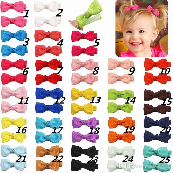 25 Colore clip di BB archi dei capelli di colore della caramella ragazze dolci Bang Clips Boutique Hand Made Accessorio per capelli