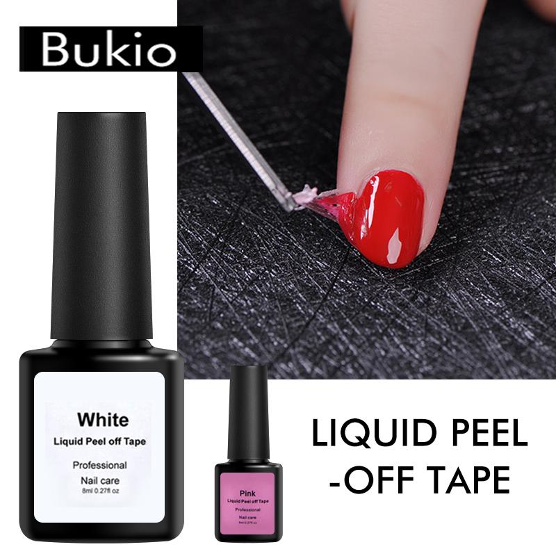 Bukio Peel Off Liquid Tape 8ml Nail Polish Manicure Protected Easy Clean Fast Finger Skin Liquid Tape Gel Nail Care Tool Gel Nail Designs Gel Polish