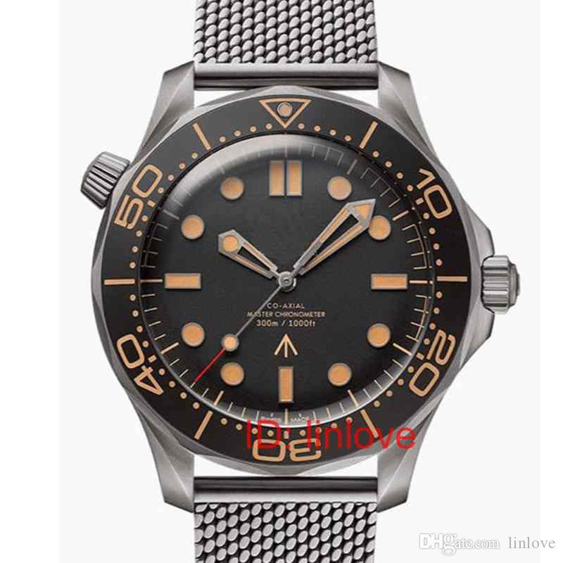 Luxury Mens Movimento meccanico automatico in acciaio inossidabile Unità 300 007 James Bond maestro NATO Designer da polso orologi 2020