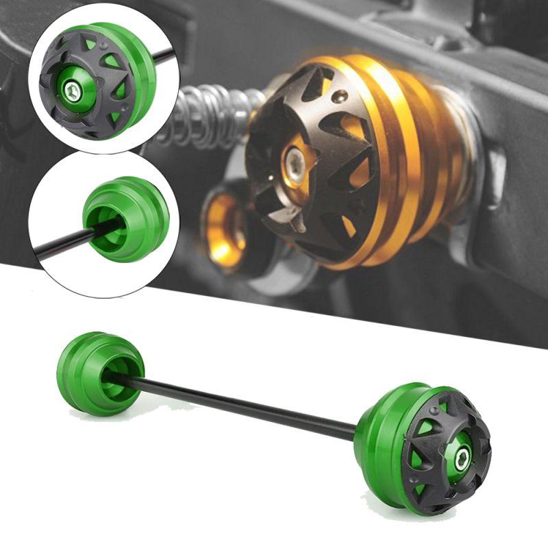 MTKRACING front and rear axle sliders fork wheel protection crash pad kit para Ninja H2 / H2R 2015-2020 H2 SX 2018-2020
