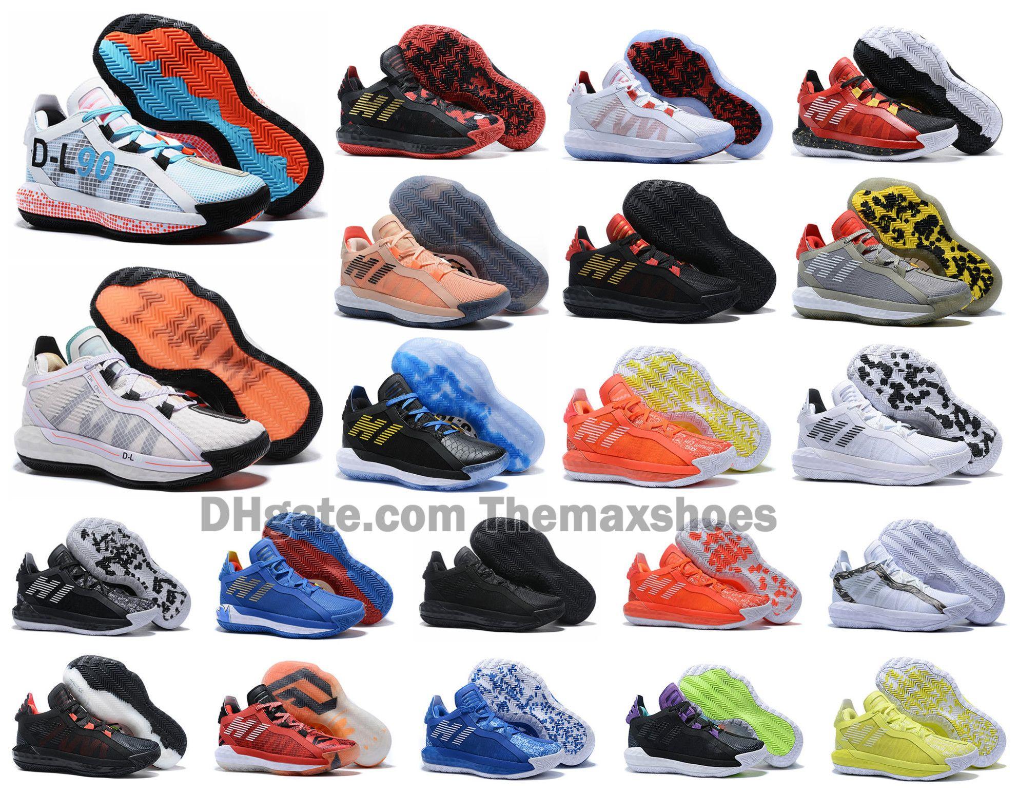 2020 Damian Lillard VI Süet 6S 6 6 Bruce Lee Basketbol Ayakkabı Erkek Ayakkabı Spor Dame Eğitmenler Sneakers 40-46
