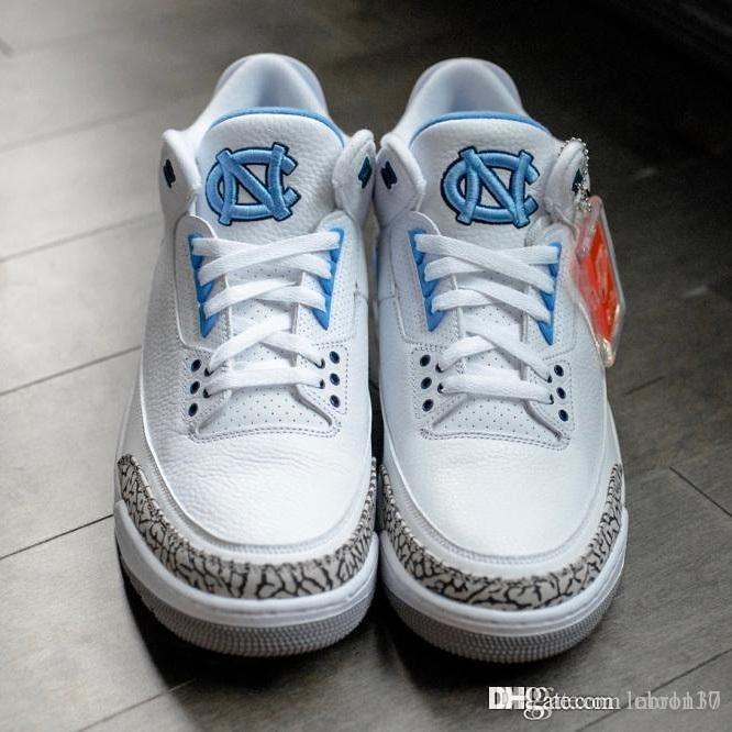 hombres baratos Jumpman 3 zapatos de baloncesto 3s Internacional lobo gris azul de vuelo White Gum Negro Tan juegos de caridad aire AJ6 zapatillas de deporte de arranque con caja
